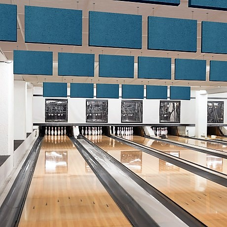 Acoustic Baffles by PanelHush installed at Bowling Alley