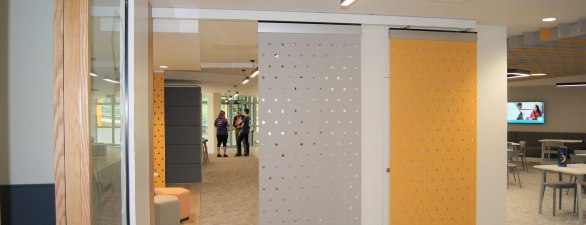 Sliding Panels in Guildford University