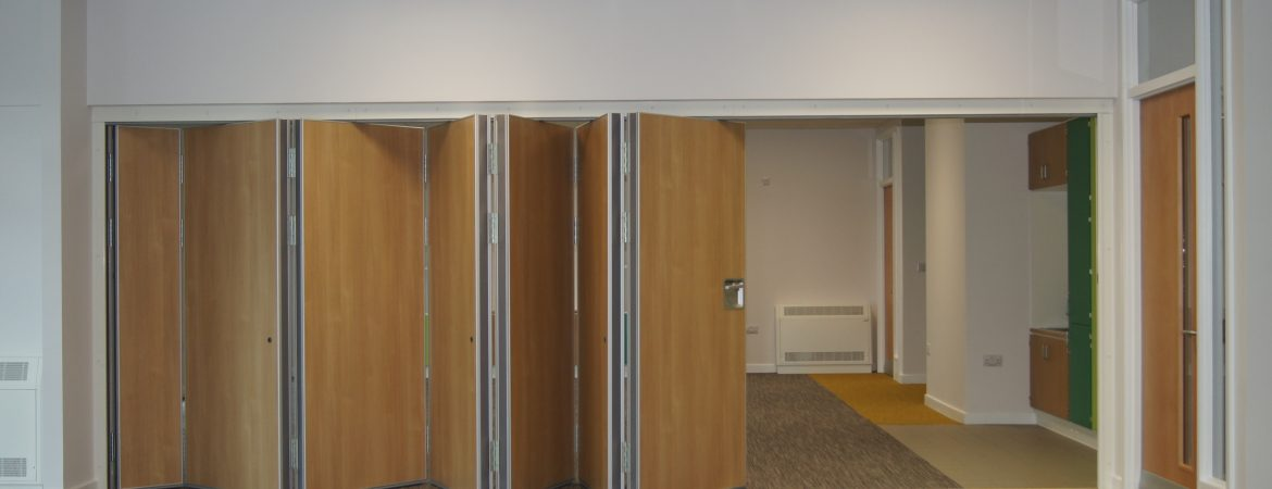 Sliding walls at St Mary's School