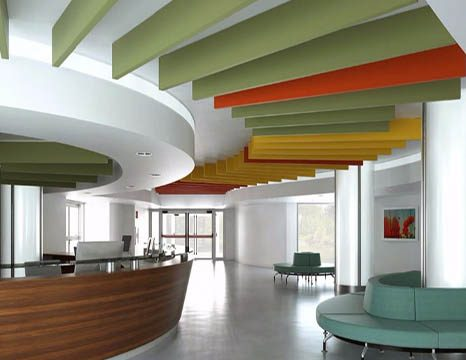 Ceiling hung acoustic panels