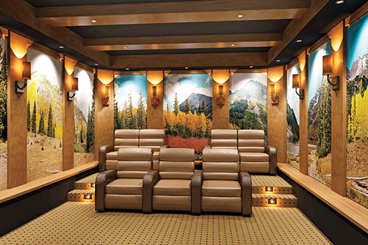 Acoustic Wall Art in Home Cinema - PanelHush Capture