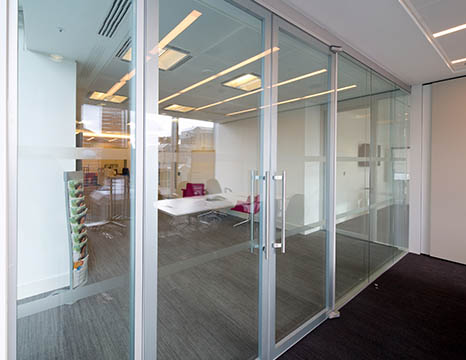 Glazed Acoustic Walls Installed in Corporate Office