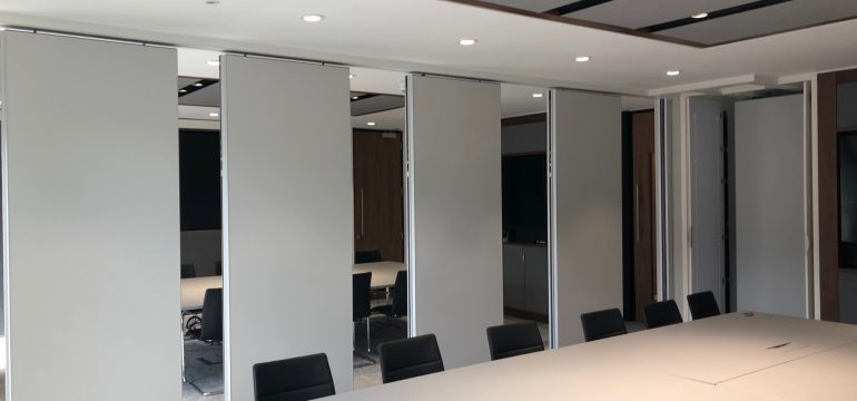 Automatic acoustic movable wall, Acoustic Movable Walls