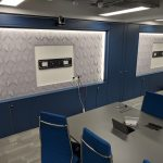 Sound absorbing acoustic PET wall panel